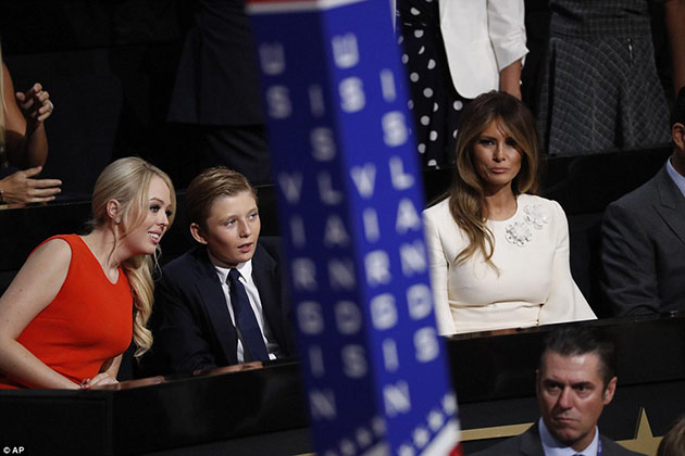 Tiffany Trump with her half siblings at RNC 2016.