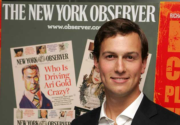 Jared kushner Newspaper publishing The New York Observer