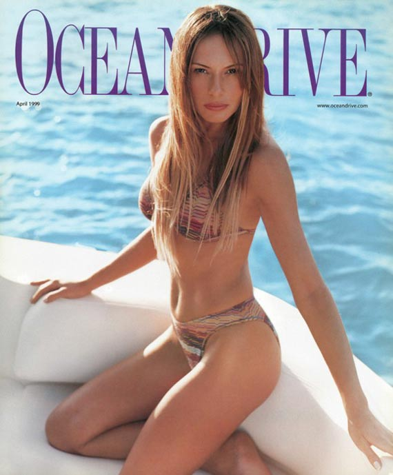 Melania Trump in the cover of Ocean Drive Magazine.