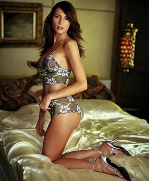 Melania Trump Posing in two piece in Bed.