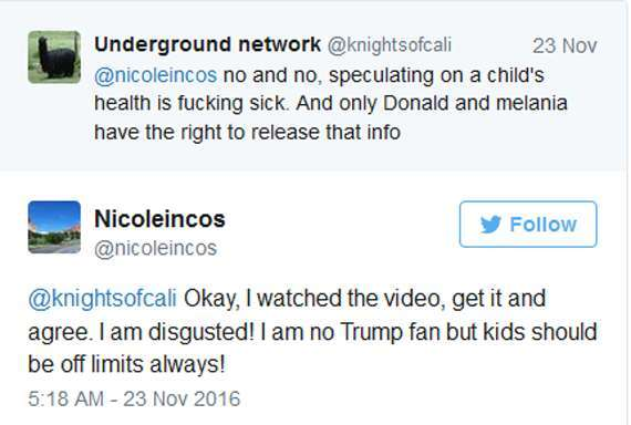 People are not liking Rosie O'donnell's tweets about Barron Trump.