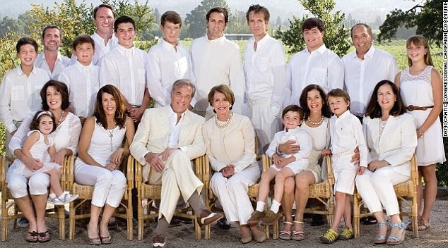 Nancy Pelosi with her family.