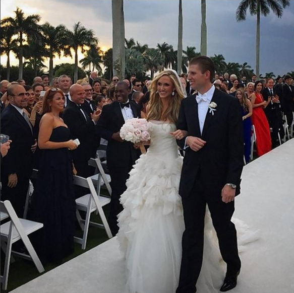Lara Trump and Eric Trump married each other in Mar A Lago Estate in 2014.