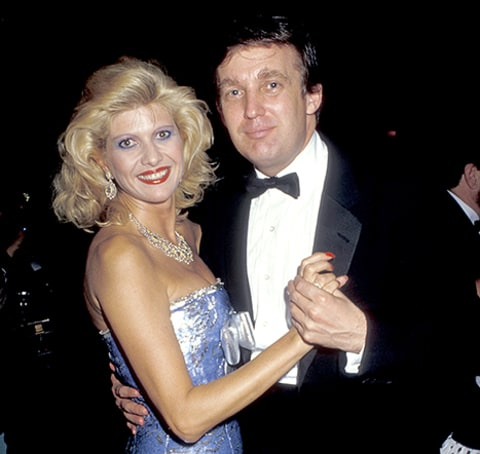 Ivana Trump and Donald Trump.