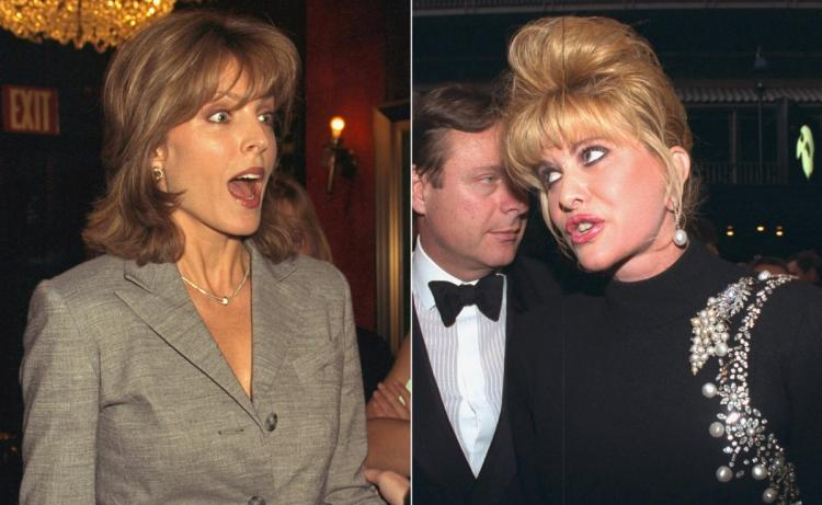 Donald Trump's ex wives Ivana Trump and Marla Maples. Donald left Ivana for Marla Maples.