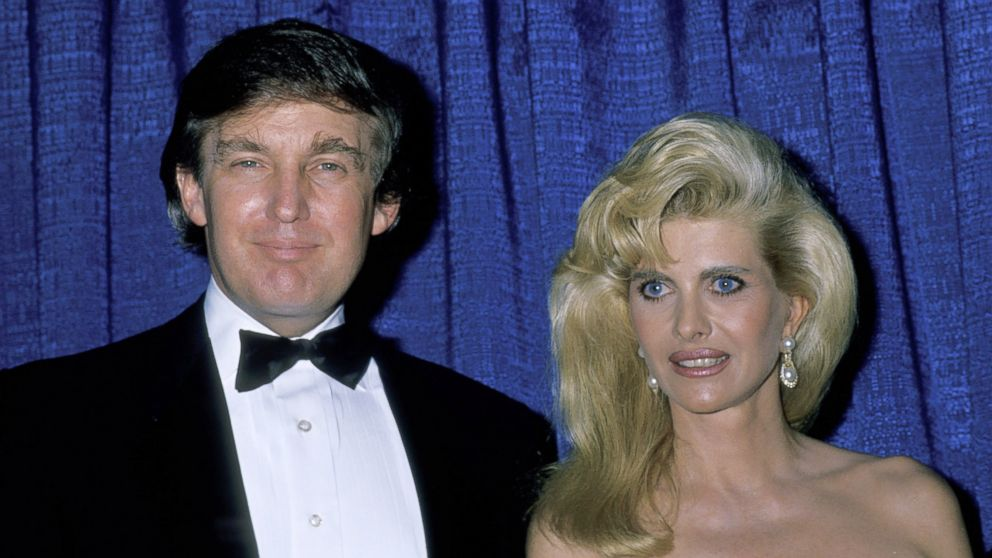 Ivana Trump and Donald Trump married each other but soon divorced because of his affair with Marla Maples.