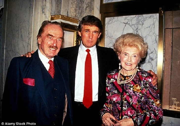 Donald Trump with his parents.