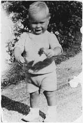 Baby George H W Bush at his grandfather's house.