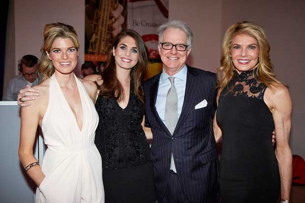 Hope Hicks with her Sister Mary Grace Hicks (left), Father Paul Hicks and her mother Caye Hicks.