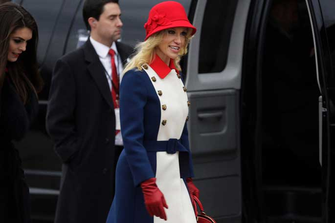Kellyanne wore this legendary dress in Trump's inauguration. This is trending in US right now.