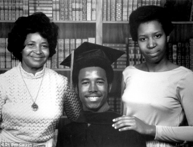 Ben Carson with his mother after graduating from Yale.