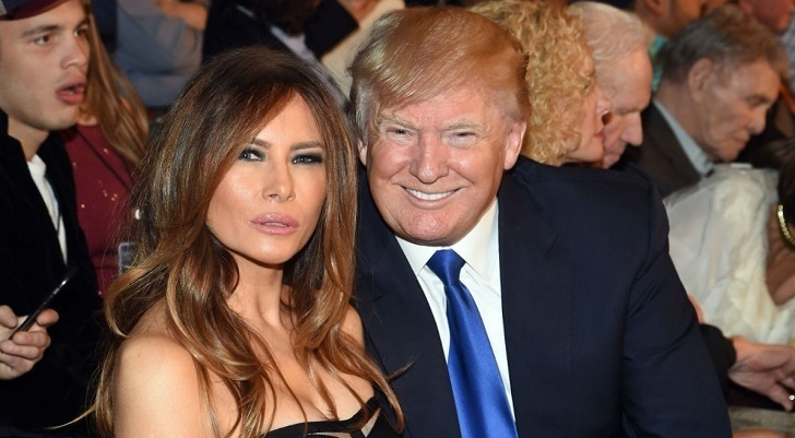 Donald Trump with his present wife Melania Trump.