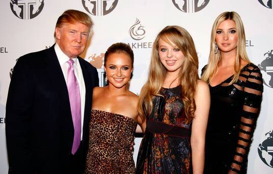 Donald Trump with his daughters Ivanka Trump and Tiffany Trump.