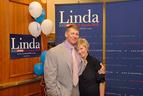 Linda McMahon is married to Steve McMahon.