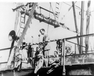 George H W bush at Zapata Oil Rig. He was investor on oil business.