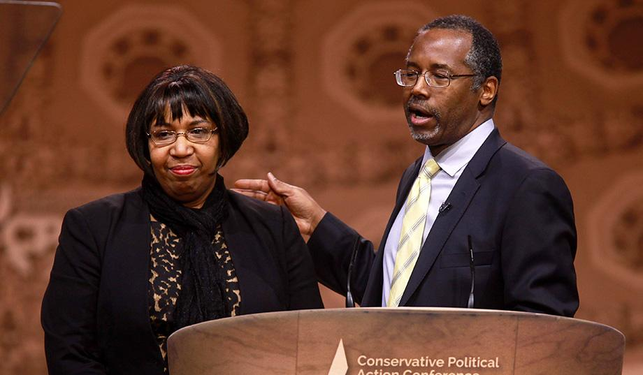 Ben Carson with his wife Candy.