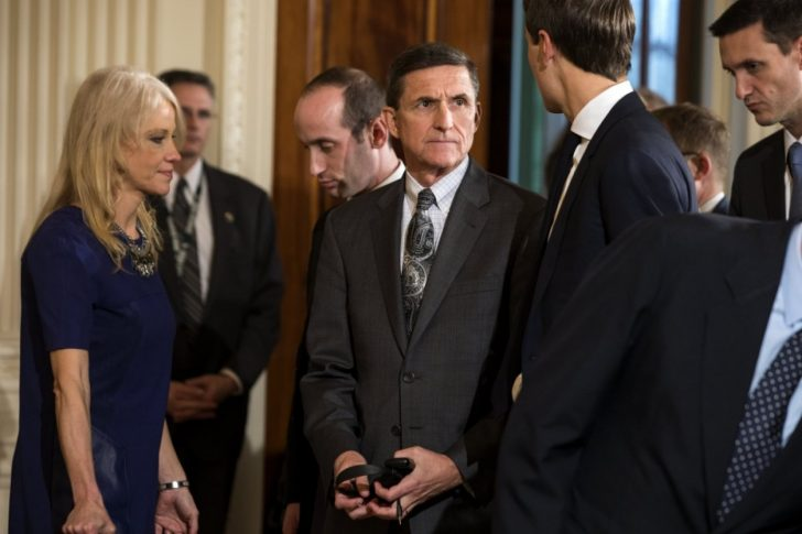 Michael Flynn with Kellyanne Conway.
