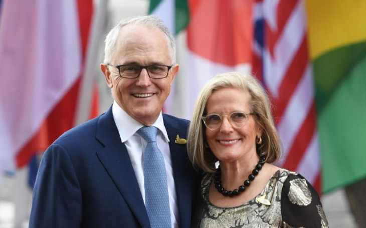 Malcolm Turnbull with his wife Lucy Turnbull