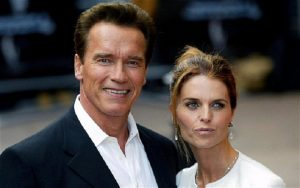 Arnold Schwarzenegger with his former wife.