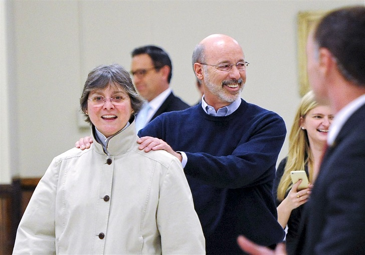 Frances Wolf with her husband governor Tom Wolf.