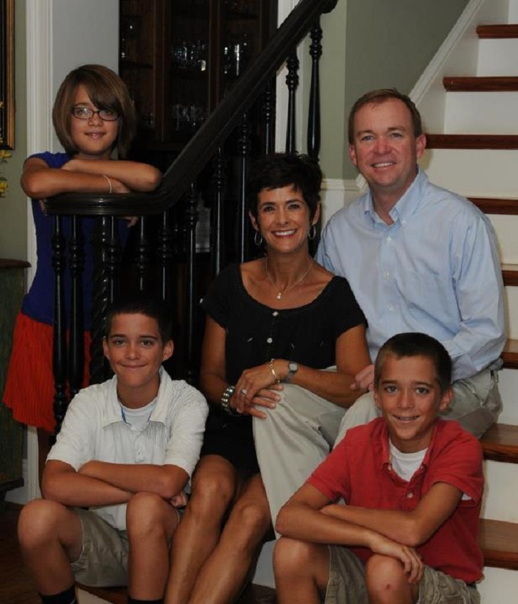 Mick Mulvaney with his wife Pamela West and children.