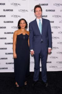 Susan Rice with her husband.Susan Rice with her husband.