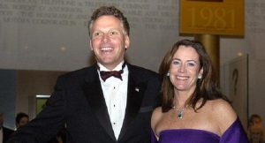Dorothy McAuliffe with husband who is the governor of Virginia.