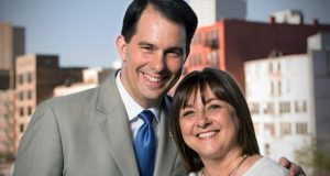 TOnette Walker with her husband Governor Scott Walker.