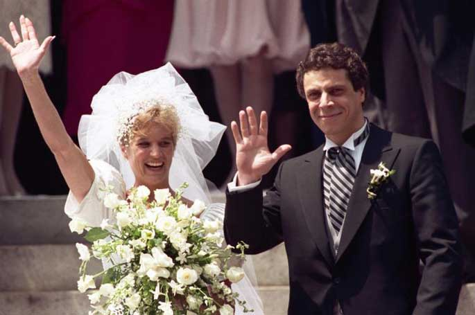 Picture of Kerry Kennedy and Andrew Cuomo's marriage in 1991. They divorced in 2005.