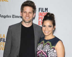 America Ferera with her husband. The couple has been together for twelve years.