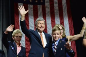 Roy Blunt with his wife and adopted son.