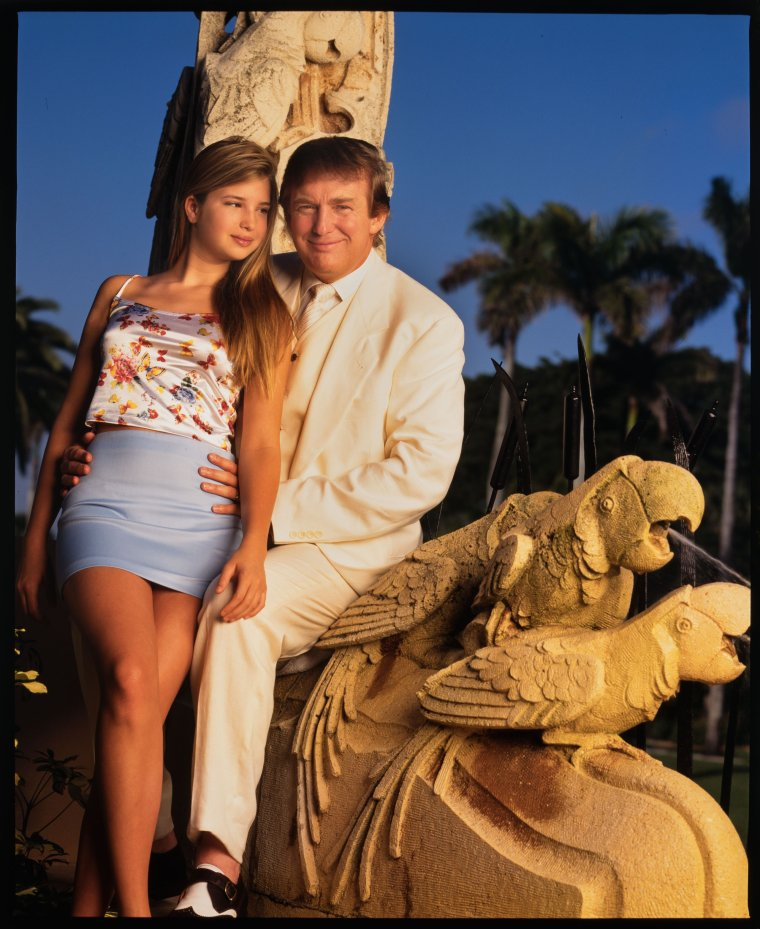 Donald Trump and his daughter Ivanka Trump, Mar-a-Lago, Palm Beach, Florida 1996.