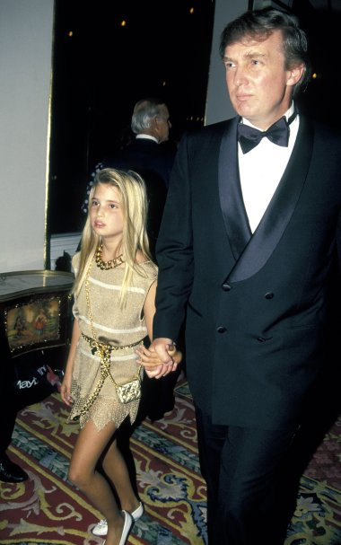 Donald Trump and Daughter Ivanka Trump (Photo by Ron Galella)
