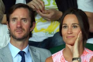 Pippa Middleton and her soon to be husband James Matthews.