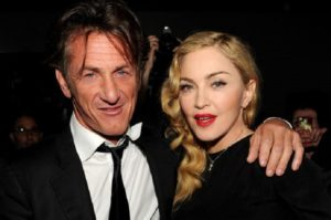 Madonna with her ex husband Sean Penn.