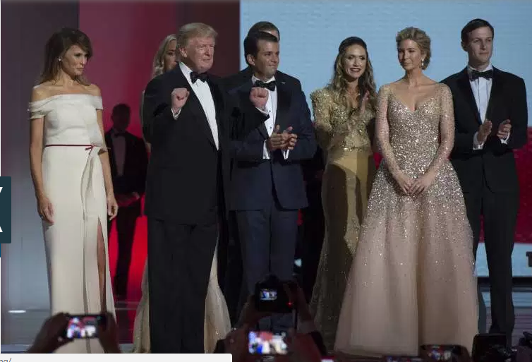 Lara Trump in the inaugral ball of President Donald Trump.