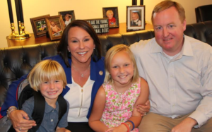 Marth ROby with her husband Keith Roby and two children.