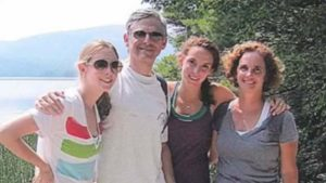 Merrick Garland with his wife and two daughter. Both of them went to Yale University.