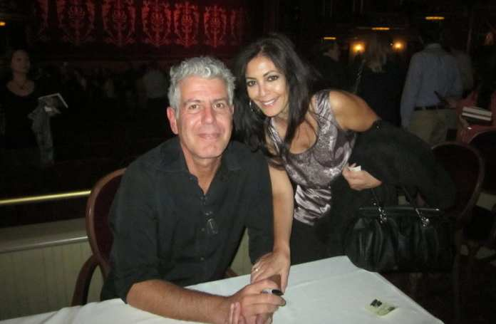 Anthony Bourdain with his first ex-wife Nancy Putkoski