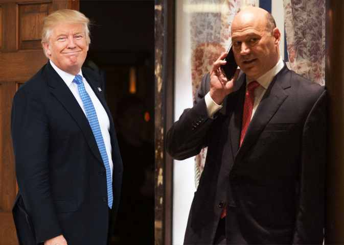 Gary Cohn with President Donald Trump in the White House
