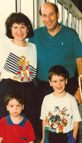 Marillyn Hewson with her husband James Hewson and two sons Will Hewson and David Hewson