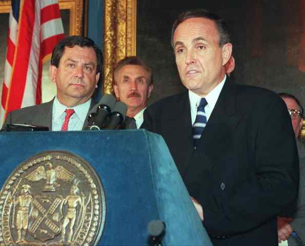New York City Mayor Rudy Giuliani, 1997.